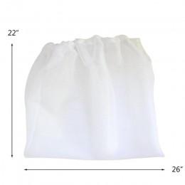 Bolsa de filtro con cordón ajustable reutilizable de malla para cerveza casera, bolsa de filtro de vino, té, fruta, jugo, leche,