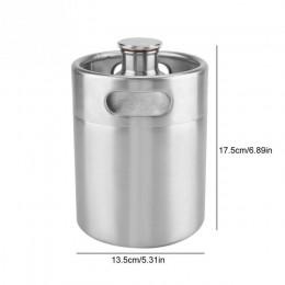 2/3 6/5L de acero inoxidable Mini barril de cerveza presurizado Growler para artesanía dispensador de cerveza sistema cerveza
