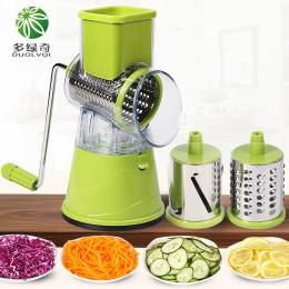 DUOLVQI cortador de vegetales Manual accesorios de cocina multifuncional redondo Mandoline rebanador patatas queso utensilios de