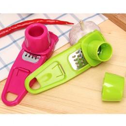 Color dulce para cocina accesorios plástico jengibre ajo herramienta de molienda silicona mágica pelador cortador rallador cepil