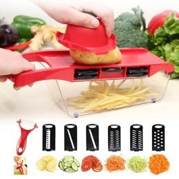 6in1 rebanador vegetal multifuncional zanahoria patata fruta melón pelador Cortador Manual de verduras triturador cocina Accesor