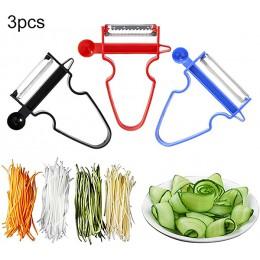 Espiralizador portátil rebanador de verduras espiralizador de mano pelador espiral de acero inoxidable rebanador de patatas cala