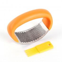 Prensador de ajo curvado triturador de ajo picador prensas de ajo herramienta de utensilios de cocina