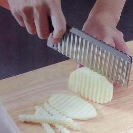 Cortador de verduras de acero inoxidable cortador de borde ondulado de patatas cuchillo aparato para frutas y vegetales cortador