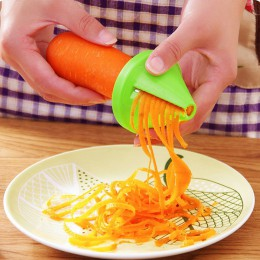 Utensilios de cocina accesorios Gadget modelo de embudo rebanador espiral dispositivo triturador de verduras ensalada de cocina