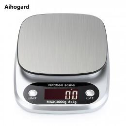 Báscula de cocina electrónica LCD de 10 kg/1g, balanza para el hogar, herramienta para medir la cocina, báscula Digital de acero