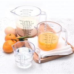 150/300/600ml de alta calidad de plástico taza de medición báscula transparente mostrar taza transparente verter Caño 3 tamaños