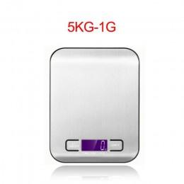 La alta precisión electrónica de la balanza de cocina 5 kg/1g LCD Digital Escala de alimentos de acero inoxidable Escala de peso