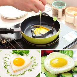 2019 batidora de panqueque de huevo frito, moldeadora de acero inoxidable, anillo de panqueque de huevo frito, forma de corazón