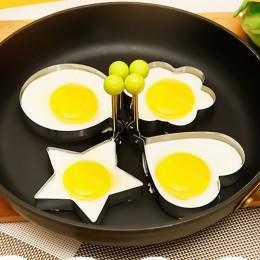 4 estilos de acero inoxidable huevo frito moldeador moldes de tortitas molde para tortillas freír anillos de huevo herramientas