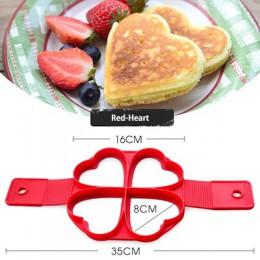 Molde de silicona para cocinar antiadherente, herramienta para hacer panqueques de corazón redondo, herramienta para huevos, oll