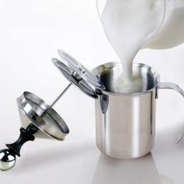 800/400ML bomba de espuma de leche de acero inoxidable mezclador de café vaporizador de leche Cappuccino Latte doble malla espum