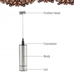 Vaporizador de leche de mano eléctrico de doble resorte Triple batidor de cabeza batidora mezclador agitador herramienta de cafe