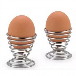 2019 más nuevo cocina desayuno duro hervido Metal huevo taza espiral primavera soporte huevo taza