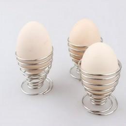 Durable cocina desayuno hervido Metal huevo taza soporte huevo herramientas