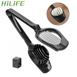 HILIFE de acero inoxidable de mano seta Kiwi divisor cortador de tomate huevo partido dispositivo multifunción molde para rebana
