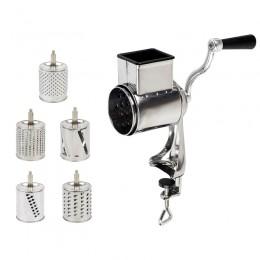 Rallador rotatorio molinillos de alimentos molinillos de nueces con 5 hojas de tambor para reja de queso y molienda de nueces tr