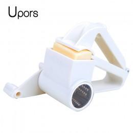 Rallador de queso de plástico Upors rallador rotatorio de jengibre cortador rallador para Chocolate con tambor de acero inoxidab