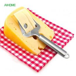 1 unidad antiadherente de acero inoxidable cortador de cuchilla para queso cortador de mantequilla rallador plano herramientas d