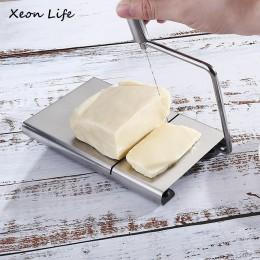 Cortador de mantequilla de queso cortador de tabla de corte de cocina herramienta de mano de alambre de acero inoxidable rebanad