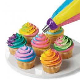 3 agujeros herramienta de Decoración de Pastel 3 colores convertidor de mezcla para Cupcake crema flor glaseado boquilla convert
