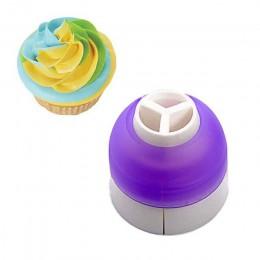 3 agujeros herramienta de decoración de pasteles 3 colores convertidor de mezcla para Cupcake crema flor glaseado boquilla conve