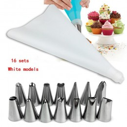 16 Uds. De acero inoxidable convertidor decoración para galletas helado pastel molde pastel decoración herramienta glaseado tube