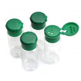 4 Uds. Salero de especias de plástico frasco de condimento para barbacoa botella de vinagre vinagrera de cocina 10,5*4 cm 80 ml