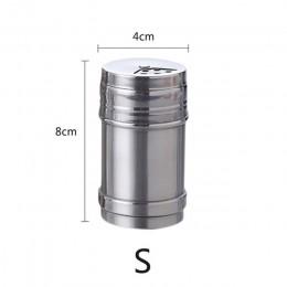 1 Uds., utensilios de cocina multiusos de acero inoxidable, mezclador de especias, frasco de especias, cubierta giratoria, frasc