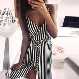 KANCOOLD vestido de mujer de rayas de impresión sin mangas de hombro vestido de fiesta de noche chaleco imperio fajas vestido de