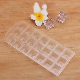 Alta calidad de plástico grueso 21 rejillas molde de cubitos de hielo DIY reutilizable bandeja de hielo de Whisky gelatina molde