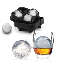 Cubo de hielo para whisky molde de bola molde de ladrillo barra redonda accesorios de alta calidad Color negro molde de herramie