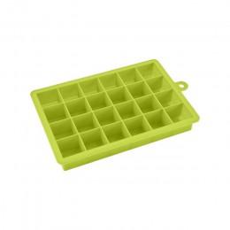 24 Cube cubitos de hielo bandejas cuadradas de silicona cubitos de hielo bandeja de hielo congelador fácil de liberar máquina de