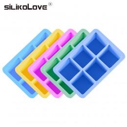 Silikove 6 cavidades 3d magic gran silicona hielo cubo fabricante molde cuadrado DIY fruta hielo fabricante cocina Bar beber Acc