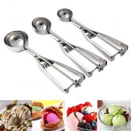 Nueva cuchara de helado de 4/5/6 Cm cuchara de helado de acero inoxidable útil cuchara de sandía galletas difusor de masa cuchar