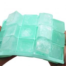 15 rejilla de grado alimenticio bandeja de hielo de silicona molde de hielo hogar con tapa DIY cubo de hielo casero molde cuadra