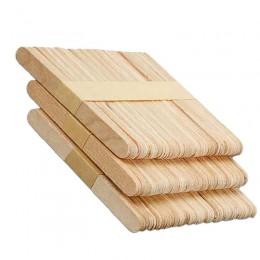 50 unids/lote de palitos de helado artesanales de madera, palitos de paletas de madera Natural, herramientas para pasteles, manu