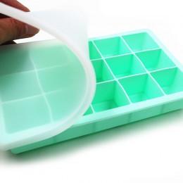 Bandeja de hielo de silicona de grado alimenticio 15 rejilla hogar con tapa DIY cubito de hielo molde forma cuadrada fabricante