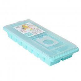 Bandeja de cubitos de hielo de 16 cavidades 2019 caja de cubitos de hielo caliente con tapa bebida gelatina molde para congelado