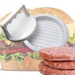 1 juego de forma redonda de hamburguesa prensa de plástico de calidad alimentaria hamburguesa Parrilla de ternera hamburguesa má