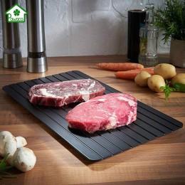 2 en 1 bandeja de carne de descongelación rápida tabla de cortar de seguridad rápida bandeja para descongelar Placa de descongel