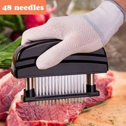 48 cuchillas aguja tenderizador de carne cuchillo de acero inoxidable carne Beaf filete mazo martillo ablandador de carne Pounde