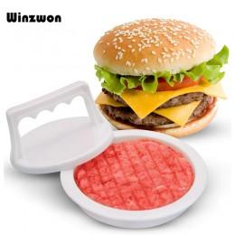 1 Juego de herramientas de plástico para la prensa de la carne, máquina de hamburguesas, molde, fácil liberación, Hamburguesa de