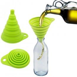 Nueva llegada Mini Gel de silicona plegable tolva de embudo de estilo práctico herramienta de cocina