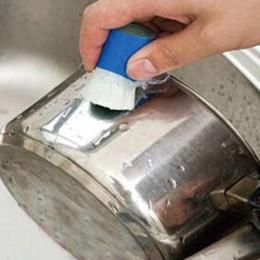 Feliz venta varilla de acero inoxidable palo mágico removedor de óxido cepillo de limpieza por lavado bote de limpieza Envío Dir