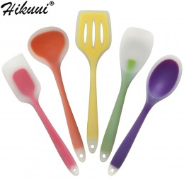 5 unids/set silicona, utensilios de cocina conjunto de herramientas no-Stick herramientas de silicona para repostería 5 Color
