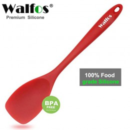 Cuchara de cocina de silicona de calidad alimentaria WALFOS esencial resistente al calor Flexible antiadherente de silicona para