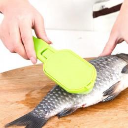 1 Uds. Herramienta de Cocina Práctica de limpieza rápida pelador de escalas de piel de pescado afeitadora de pescado plano a esc