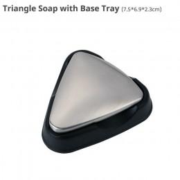 Jabón de acero inoxidable 304, jabón mágico portátil, barra de cocina para eliminar olores (Oval)