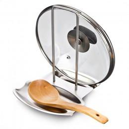 Recipiente de acero inoxidable tapa del estante de la olla soporte para cuchara hogar aplicación de los productos para 2018 nuev